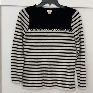 J. Crew sweater black and white